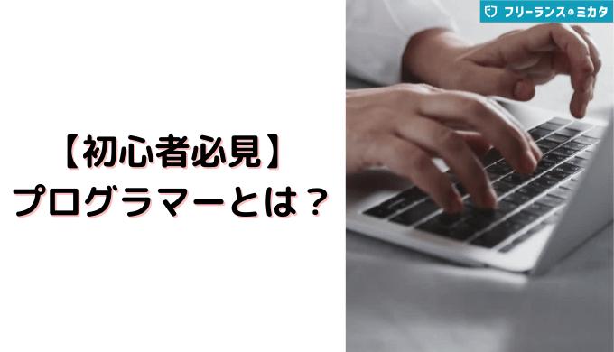 【初心者必見】プログラマーとは?